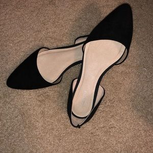 Black flats worn once